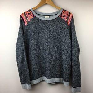Daytrip dark Grey sweatshirt with sequins